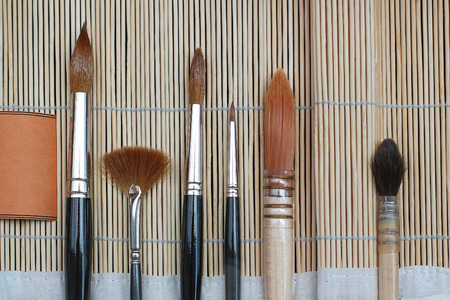 fine tip: Various artistic paint brushes for fine art