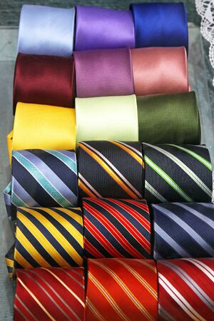 strapped: Colourful neck ties assortment made from silk