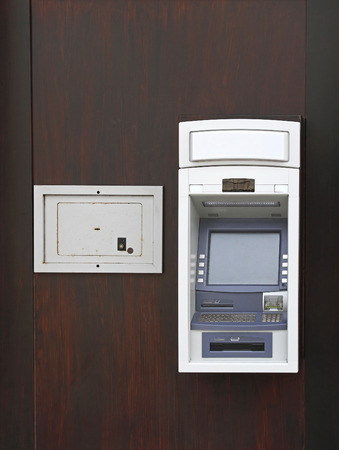 automated teller: Night Safe Box And Automated Teller Machine Stock Photo