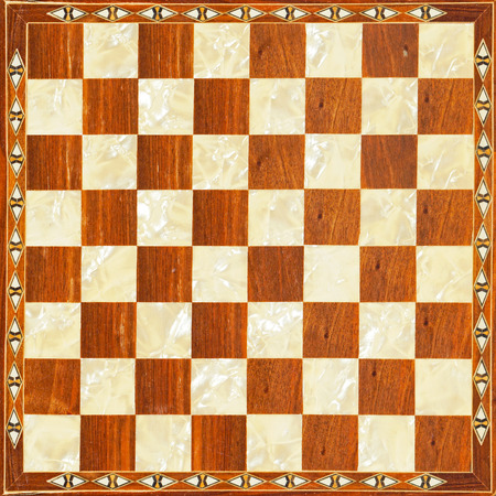 Luxury carved in wood checkered chess board