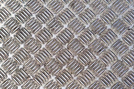 diamond plate: Heavy used diamond plate industrial metal floor