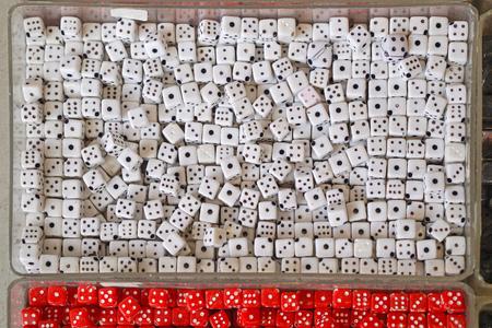 pendants: White plastic dice die pendants