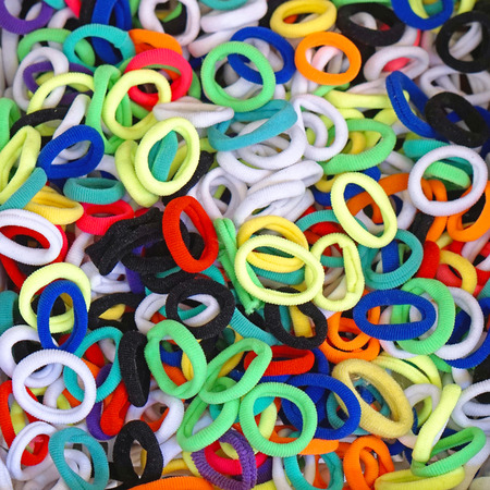 hairband: Bunch of hair bands in different colors Stock Photo