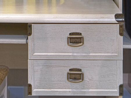 drawers: Two drawers in wooden work desk