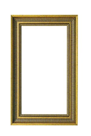 mirror frame: Mirror frame in gold with clipping path