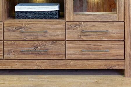 drawers: Wooden cabinet with four drawers Stock Photo