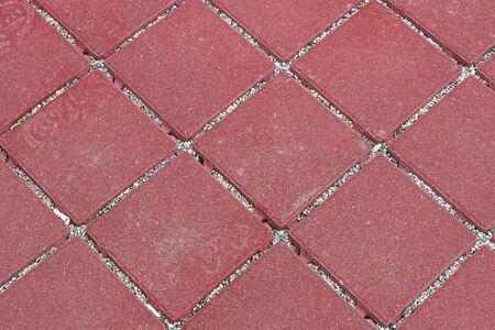 mosaic floor: Red mosaic stone outdoor patio floor tiles Stock Photo