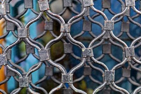 Steel metal mesh wire security grille