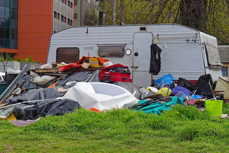 hoarding: Hoarding problem big pile of collected items
