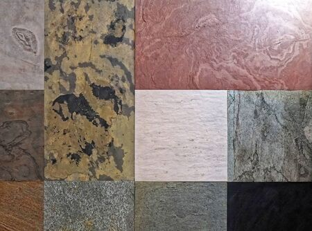 Granite and ceramic tiles in various patterns and colors