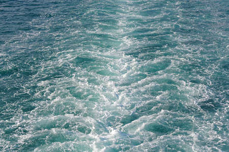 Kelvin wake sea water behind ship