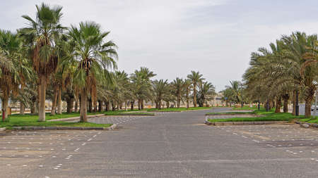 Empty parking lot during day in Kuwait
