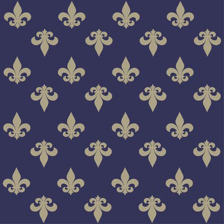 The fleur-de-lis or flower-de-luce seamless pattern Background Illustration