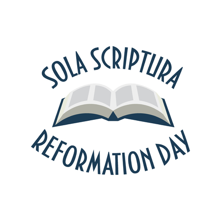 Vector Illustration for Protestant Lutheran Church Reformation Day. Illustration