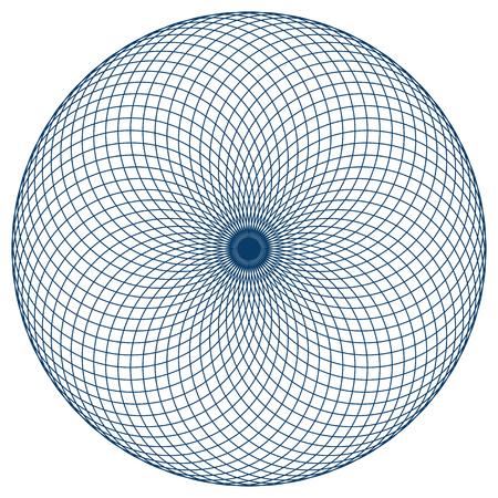 신성한 기하학 벡터 일러스트 레이 션 : 최면 눈으로 알려진 원환 체 Yantra. 원환 체 Yantra는 원과 씨앗 또는 생명의 꽃 기호로 만든 기본 요소입니다. 스톡 콘텐츠