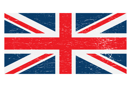 United Kingdom Union Jack flag distressed vector isolated.