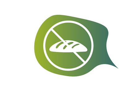 Gluten free vector symbol. No Gluten sign.