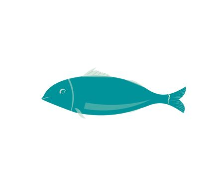 Isolated fish icon vector. Fish made in a minimalist flat style. Stok Fotoğraf
