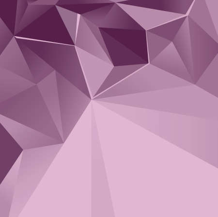 Vector abstract background of violet color with a geometric pattern with triangles. Ilustração