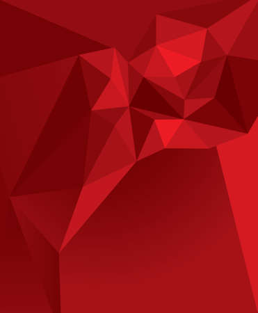 Vector abstract background of red color with a geometric pattern with triangles.