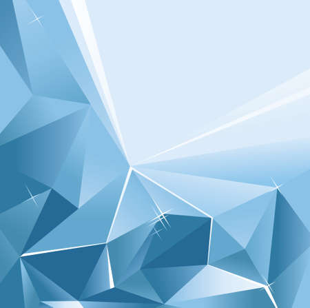 Vector abstract background of blue color with a geometric pattern with triangles.