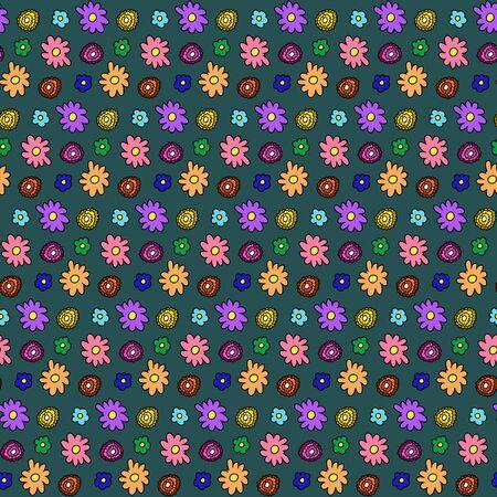 pattern: Colorful flower pattern Illustration