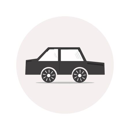 Monochrome simple car icon for your design