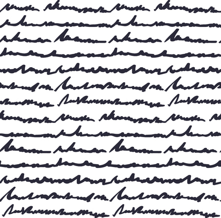 Seamless pattern with hand written fake text