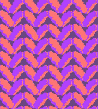 coarse: Seamless pink and purple fluffy pattern, melange downy knitting texture Illustration