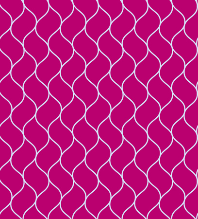 Purple vector wavy grid or chain seamless pattern. Nice fashion texture with light blue chain on pink background for textile, wallpapers, wrapping paper, covers, banners