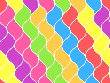 Bright rainbow colored abstract net chain pattern. Vector fashion sunbow grid texture for textile, backgrounds, wallpapers, wrapping paper, covers, banners