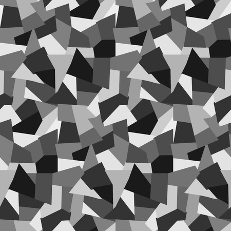 Abstract fashion gray polygons seamless pattern. Nice geometric vector texture with shades of gray for textile, backgrounds, wallpapers, wrapping paper, covers, banners