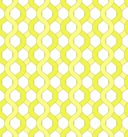 enclose: Isolated yellow net and chain seamless pattern. Yellow grid pattern to hide object visible through it for covers, backgrounds, banners, textile, wallpapers