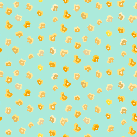 Nice tasty caramelized popcorn seamless pattern. Cute fastfood corn texture for cinema backgrounds, surface, textile, covers, banners
