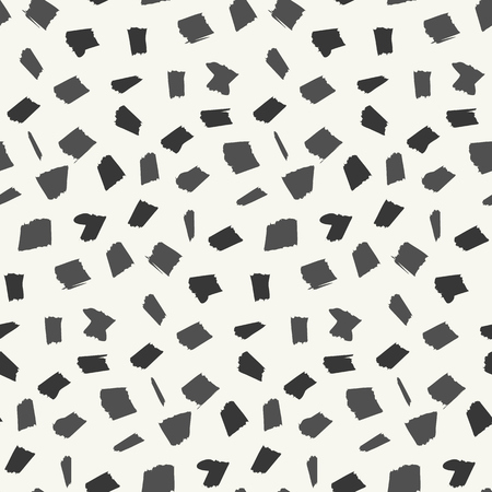 Abstract pattern with black and gray hand drawn blotch elements. Abstract fashion trendy vector texture with hand drawn shapes for textile, wrapping paper, cover, surface, background, wallpaper