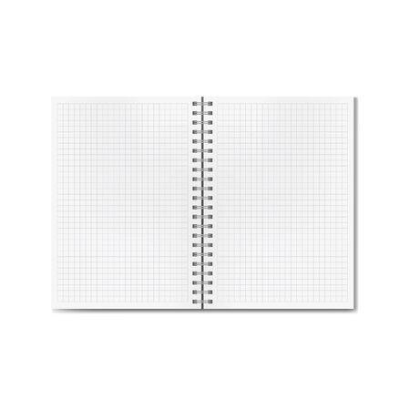 Quad-ruled notebook vector illustration. Illustration