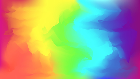 Abstract modern vector bright rainbow blurred background. Colorful trendy chaotic mesh wallpaper in rainbow colors for web design Illustration