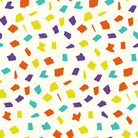 Abstract pattern with childish colorful blotches. Abstract kids trendy vector texture with sketch shapes for textile, wrapping paper, cover, surface, background, wallpaper Illustration