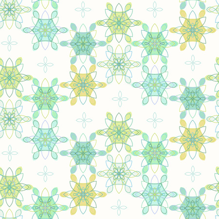 Tender lace floral pattern in blue and green colors.