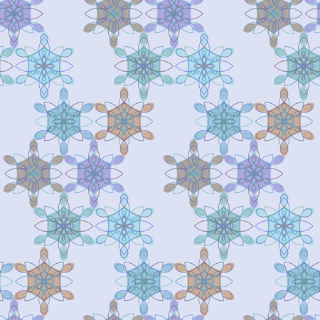 Pastel lace floral seamless pattern in blue and red colors, retro stile. Delicate geometric macrame ethnic texture for textile, wallpapers, tiles, cloth, gift wrapping paper, web design, cover