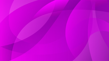 Abstract violet color technology background with halftone. Elegant round purple colours gradient shapes texture for software design, web, apps wallpaper
