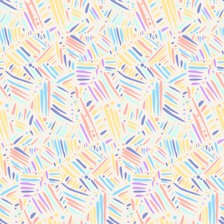 Light colors seamless pattern with chaotic hand drawn lines. Abstract scandinavian style sketchy vector texture for textile, wrapping paper, cover, surface, background, wallpaper