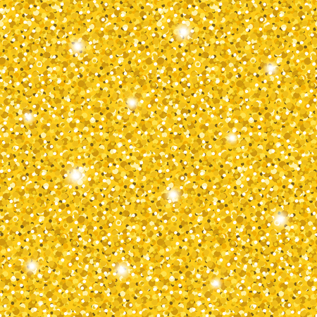 Bright vector golden glittering seamless pattern. Abstract elegant shiny gold sparkles texture for textile, wrapping paper, surface design 免版税图像