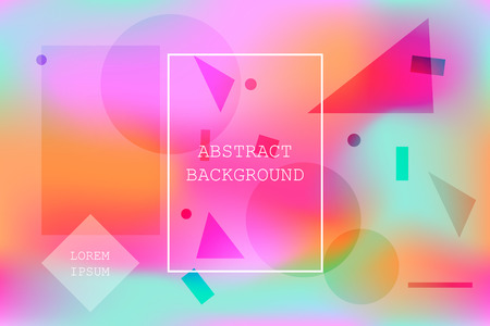 Bright colorful vibrant background with abstract geometric shapes. Modern wallpaper with gradient blobs for ui design, web, apps wallpaper, banner