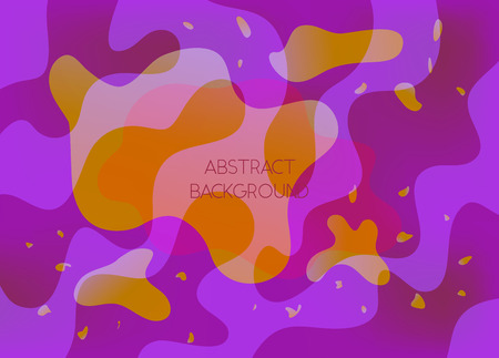 Abstract purple and orange vibrant background with wavy shapes. Deep violet wallpaper with gradient blobs for ui design, web, apps wallpaper, banner