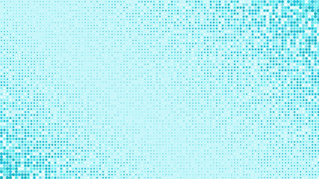 Abstract light blue glittering dotted horizontal background. Pop art retro shiny snowing texture for wallpaper, banner or presentation design