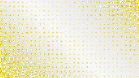 Abstract light luxury golden glittering dotted horizontal background. Pop art retro shiny yellow texture for wallpaper, banner or presentation design  イラスト・ベクター素材