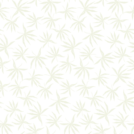 Tender light green seamless pattern with hand drawn inky tropical leaves. Delicate chinese ink exotic weed elements texture for textile, wrapping paper, cover, surface, wallpaper