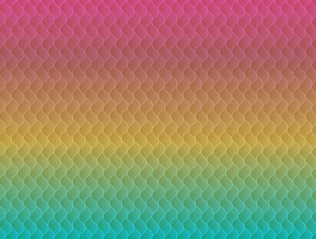 Abstract rainbow seamless pattern with colorful geometric wavy elements. Modern vibrant pride colors texture for background, wallpaper, landing design, presentations Vektorové ilustrace