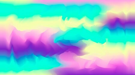 Bright vector watercolor neon colors blurred background. Beautiful colorful abstract smooth aurora borealis wallpaper for technology web design, travel concept decor, disco banner,  イラスト・ベクター素材